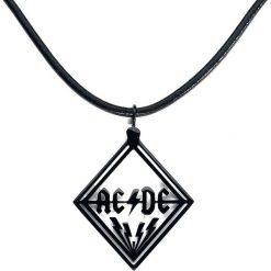 AC/DC Cut Out Logo Naszyjnik czarny. Czarne naszyjniki męskie AC/DC. Za 121,90 zł.