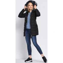 Czarna Kurtka Diminish. Czarne kurtki damskie pikowane marki Born2be, na zimę, xl. Za 169,99 zł.
