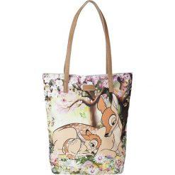 """Shopper bag damskie: Shopper bag """"Bambi"""" w kolorze beżowym – 45 x 47 x 12 cm"""