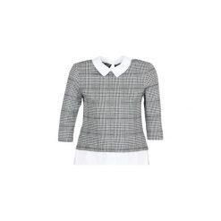Bluzki Only  ONLSELMA. Szare bluzki damskie marki ONLY, s, z bawełny, z okrągłym kołnierzem. Za 129,00 zł.