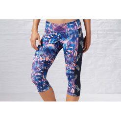 Reebok Spodnie damskie 3/4 Yoga Print Capri Multikolor r. S (B83934). Szare spodnie sportowe damskie Reebok, s. Za 72,00 zł.
