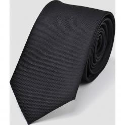 KRAWAT MĘSKI GŁADKI. Czarne krawaty męskie Top Secret, z tkaniny. Za 29,99 zł.