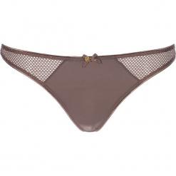 """Stringi """"Amélie"""" w kolorze szarobrązowym. Białe stringi marki LASCANA, w koronkowe wzory, z koronki. W wyprzedaży za 36,95 zł."""