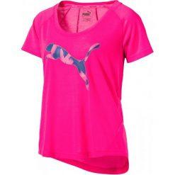 Bluzki sportowe damskie: Puma Koszulka Elevated Layer Tee W Pink Xs