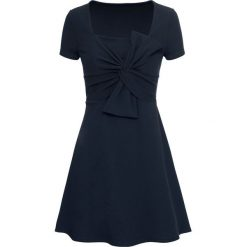 Sukienka z kokardką bonprix ciemnoniebieski. Niebieskie sukienki mini bonprix, z kokardą, z krótkim rękawem. Za 129,99 zł.