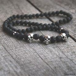 Naszyjnik MĘSKI :: black LAVA & skulls II. Czarne naszyjniki męskie marki KIPSTA, m, z elastanu, z długim rękawem, na fitness i siłownię. Za 108,00 zł.