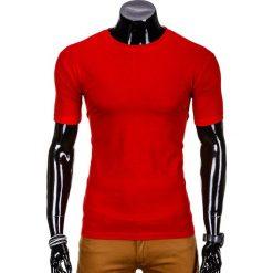 T-SHIRT MĘSKI BEZ NADRUKU S620 - CZERWONY. Czerwone t-shirty męskie z nadrukiem Inny, m, z klasycznym kołnierzykiem. Za 12,99 zł.