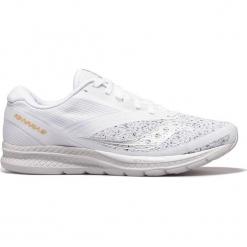 """Buty sportowe """"Kinvara 9"""" w kolorze białym. Brązowe halówki męskie marki Reebok, z materiału. W wyprzedaży za 295,95 zł."""