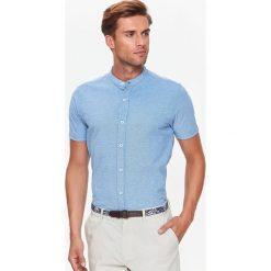 KOSZULA KRÓTKI RĘKAW MĘSKA. Szare koszule męskie Top Secret, na jesień, m, z krótkim rękawem. Za 34,99 zł.