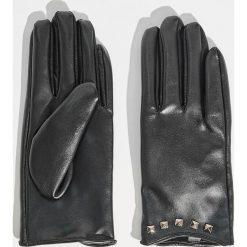 Rękawiczki damskie: Rękawiczki z ćwiekami - Czarny