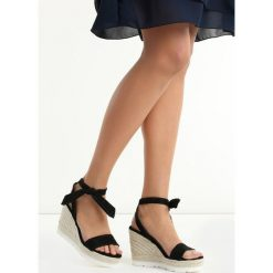 Rzymianki damskie: Czarne Sandały Newcomers
