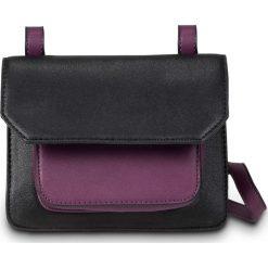 Torebki klasyczne damskie: Mała torebka na ramię bonprix czarno-jeżynowy