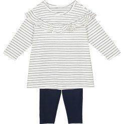 Sukienki dziewczęce: Komplet tunika z falbaną i legginsy, 1 mies.-3 lata