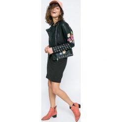 Missguided - Kurtka. Czarne kurtki damskie ramoneski marki Missguided, z bawełny. W wyprzedaży za 219,90 zł.