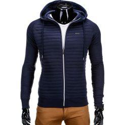 Bluzy męskie: BLUZA MĘSKA ROZPINANA Z KAPTUREM B637 – GRANATOWA