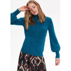 SWETER DOPASOWANY Z GOLFEM. Szare swetry oversize damskie Top Secret, na jesień. Za 149,99 zł.