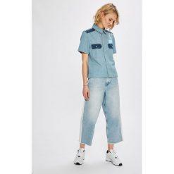 Calvin Klein Jeans - Koszula Boxy Shirt. Szare koszule jeansowe damskie Calvin Klein Jeans, l, klasyczne, z klasycznym kołnierzykiem, z krótkim rękawem. W wyprzedaży za 319,90 zł.