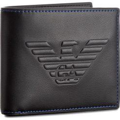 Duży Portfel Męski EMPORIO ARMANI - Y4R167 YG90J 81072 Black. Czarne portfele męskie Emporio Armani. W wyprzedaży za 299,00 zł.
