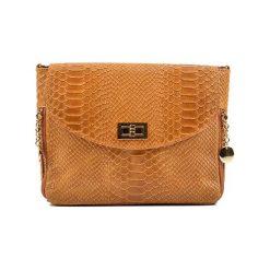 Torebka w kolorze koniaku - (S)27 x (W)21 x (G)10 cm. Brązowe torebki klasyczne damskie Bestsellers bags, w paski, z materiału. W wyprzedaży za 219,95 zł.