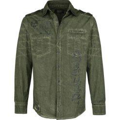 Rock Rebel by EMP Devils And Dust Koszula oliwkowy. Czarne koszule męskie na spinki marki Leonardo Carbone, s, z materiału, z długim rękawem. Za 121,90 zł.