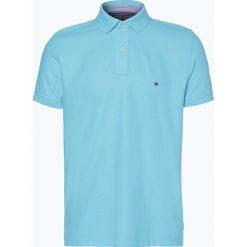 Tommy Hilfiger - Męska koszulka polo, niebieski. Szare koszulki polo marki TOMMY HILFIGER, z bawełny. Za 299,95 zł.