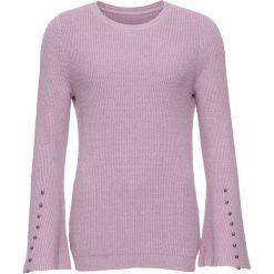 Sweter dzianinowy z rozkloszowanymi rękawami bonprix stary dymny różowy. Fioletowe swetry klasyczne damskie marki DOMYOS, l, z bawełny. Za 99,99 zł.