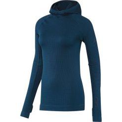 Bluzy damskie: Adidas Bluza damska Seamless Climaheat Hooded Longsleeve niebieska r. M (AP7347)
