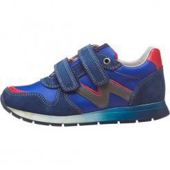 """Sneakersy """"Bomba"""" w kolorze granatowym. Niebieskie trampki chłopięce Naturino, z aplikacjami, z materiału. W wyprzedaży za 195,95 zł."""