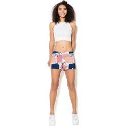 Spodnie damskie: Colour Pleasure Spodnie damskie CP-020 46 biało-granatowe r. XL/XXL