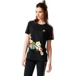 Adidas Originals Koszulka damska  JARDIM AGHARTA 3 STRIPES TEE czarna r. 38  (BR5173). Szare topy sportowe damskie marki adidas Originals, na co dzień, z nadrukiem, z bawełny, casualowe, z okrągłym kołnierzem, proste. Za 149,55 zł.
