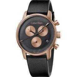 ZEGAREK CALVIN KLEIN CITY K2G17TC1. Brązowe zegarki męskie marki Calvin Klein, szklane. Za 1529,00 zł.