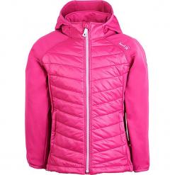 Kurtka funkcyjna w kolorze różowym. Czerwone kurtki dziewczęce marki Reserved, z kapturem. W wyprzedaży za 202,95 zł.