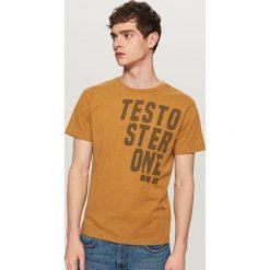 T-shirt z nadrukiem - Brązowy. Brązowe t-shirty męskie z nadrukiem marki LIGNE VERNEY CARRON, m, z bawełny. Za 39,99 zł.