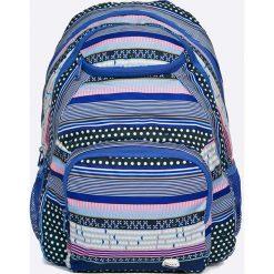 Roxy - Plecak. Szare plecaki damskie Roxy, w paski, z materiału. W wyprzedaży za 119,90 zł.