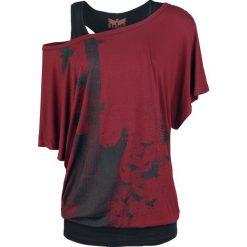 Black Premium by EMP When The Heart Rules The Mind Koszulka damska bordowy/czarny. Czarne bluzki z odkrytymi ramionami marki Black Premium by EMP, xl, z poliesteru. Za 144,90 zł.