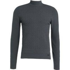 Swetry klasyczne męskie: Armani Collezioni STRUCTURED Sweter grigio