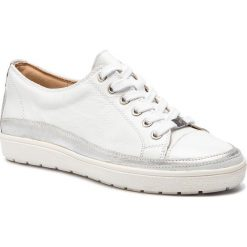 Półbuty CAPRICE - 9-23654-22 White Nappa 102. Białe półbuty damskie skórzane marki Caprice, na płaskiej podeszwie. Za 269,90 zł.