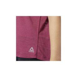T-shirty z krótkim rękawem Reebok Sport  Koszulka Burnout. Czerwone bluzki sportowe damskie Reebok Sport, l, z krótkim rękawem. Za 149,00 zł.