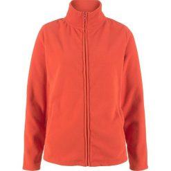 Bluza rozpinana z polaru z wpuszczanymi kieszeniami bonprix pomarańczowy matowy. Brązowe bluzy polarowe bonprix. Za 54,99 zł.