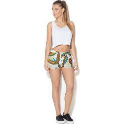 Colour Pleasure Spodnie damskie CP-020 70 beżowo-czerwono-żółto-zielone r. XL-XXL. Brązowe spodnie sportowe damskie marki Colour pleasure, xl. Za 72,34 zł.