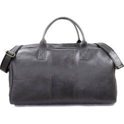 GERONE Grafitowa męska torba ze skóry Podróżna smooth leather. Szare torby na ramię męskie marki Brødrene, z materiału, duże. Za 750,00 zł.