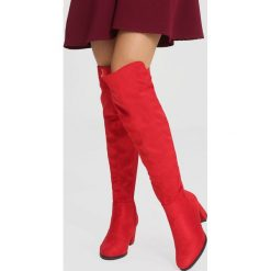 Czerwone Kozaki It's Getting Better. Czerwone buty zimowe damskie other, z materiału, na wysokim obcasie, na obcasie. Za 169,99 zł.