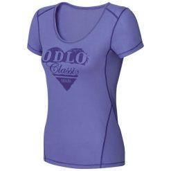Odzież damska: Odlo Koszulka damska s/s crew neck Cubic Trend fioletowa r. S
