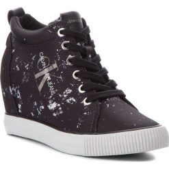 Sneakersy CALVIN KLEIN JEANS - Ritzy RE9798 Black. Czarne sneakersy damskie marki Calvin Klein Jeans, z jeansu. Za 519,00 zł.
