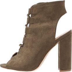 Sandały damskie: New Look SPARE Sandały na obcasie dark khaki