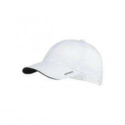 Czapka z daszkiem Jr biała. Białe czapki z daszkiem damskie ARTENGO, z materiału. Za 17,99 zł.