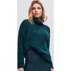 Sweter z golfem - Khaki. Brązowe golfy damskie marki Reserved, m. Za 159,99 zł.