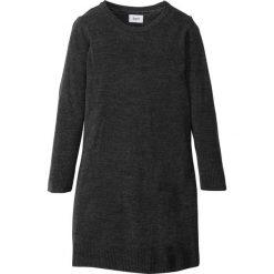 Sukienki dziewczęce: Sukienka dzianinowa bonprix czarny melanż