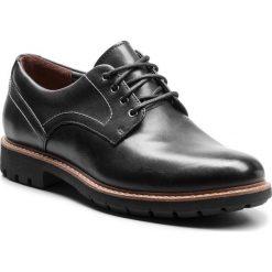 Półbuty CLARKS - Batcombe Hall 261275497 Black Leather. Czarne derby męskie Clarks, z materiału. Za 459,00 zł.