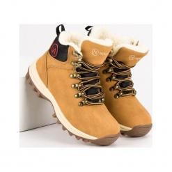 Buty dziecięce z kożuszkiem beżowe r. 33. Brązowe buciki niemowlęce McKeylor, na zimę. Za 141,29 zł.